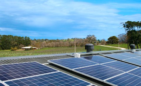 Solar installation for Sidewood Winery