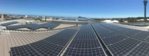 Roof-top solar installation at Cove Civic Centre