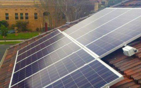 Roof-top solar installation at Bentleigh Maternal