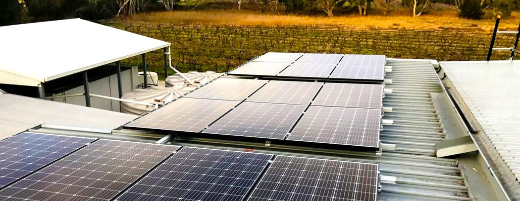 Roof-top solar installation at Maggie Beer