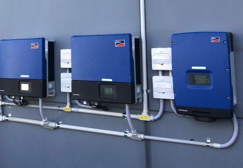Installed solar inverters