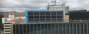 Suntrix solar facade installation at CBD Botanic High School