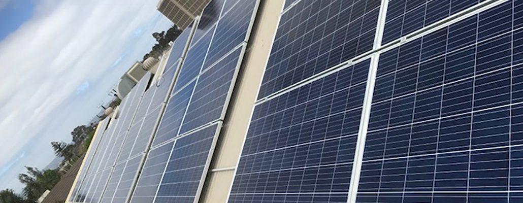 Roof-top solar installation at Woodville Christadelphian Hall