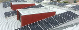 Roof-top solar installation at Ben Kavanagh Pavillion