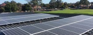 Rooftop solar installation at Brighton Grammar