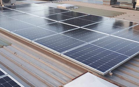 Roof-top solar installation at Kingswood Eye Centre