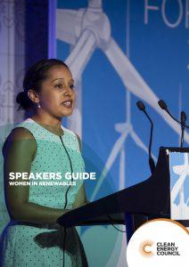 Women in Renewables - Speakers Guide