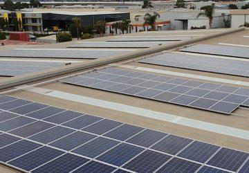 Suntrix solar installation for Loscam