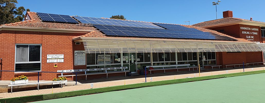 Solar installation for Kensington Gardens Bowling Club